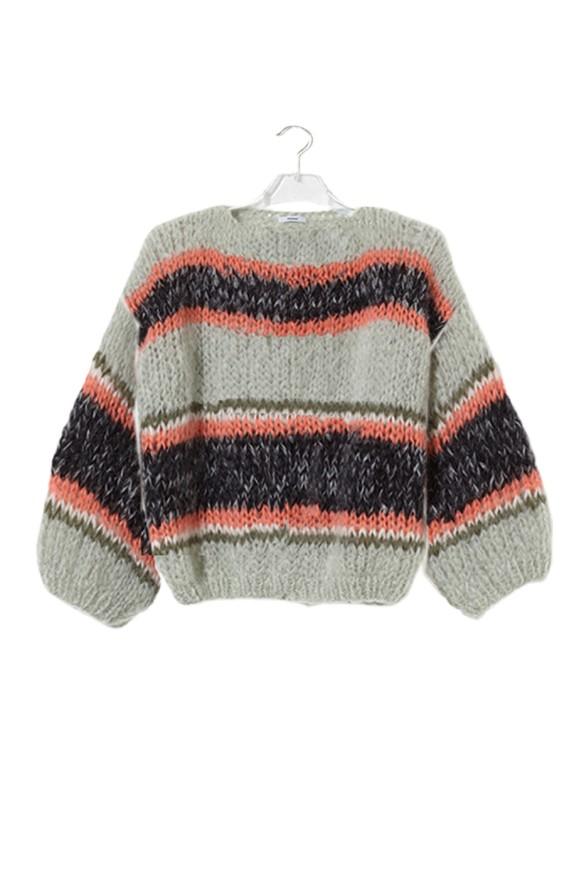 Pullover Mohair Sage Melange