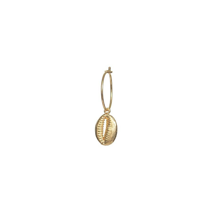 Cowry Shell Hoop Ohrring - Single