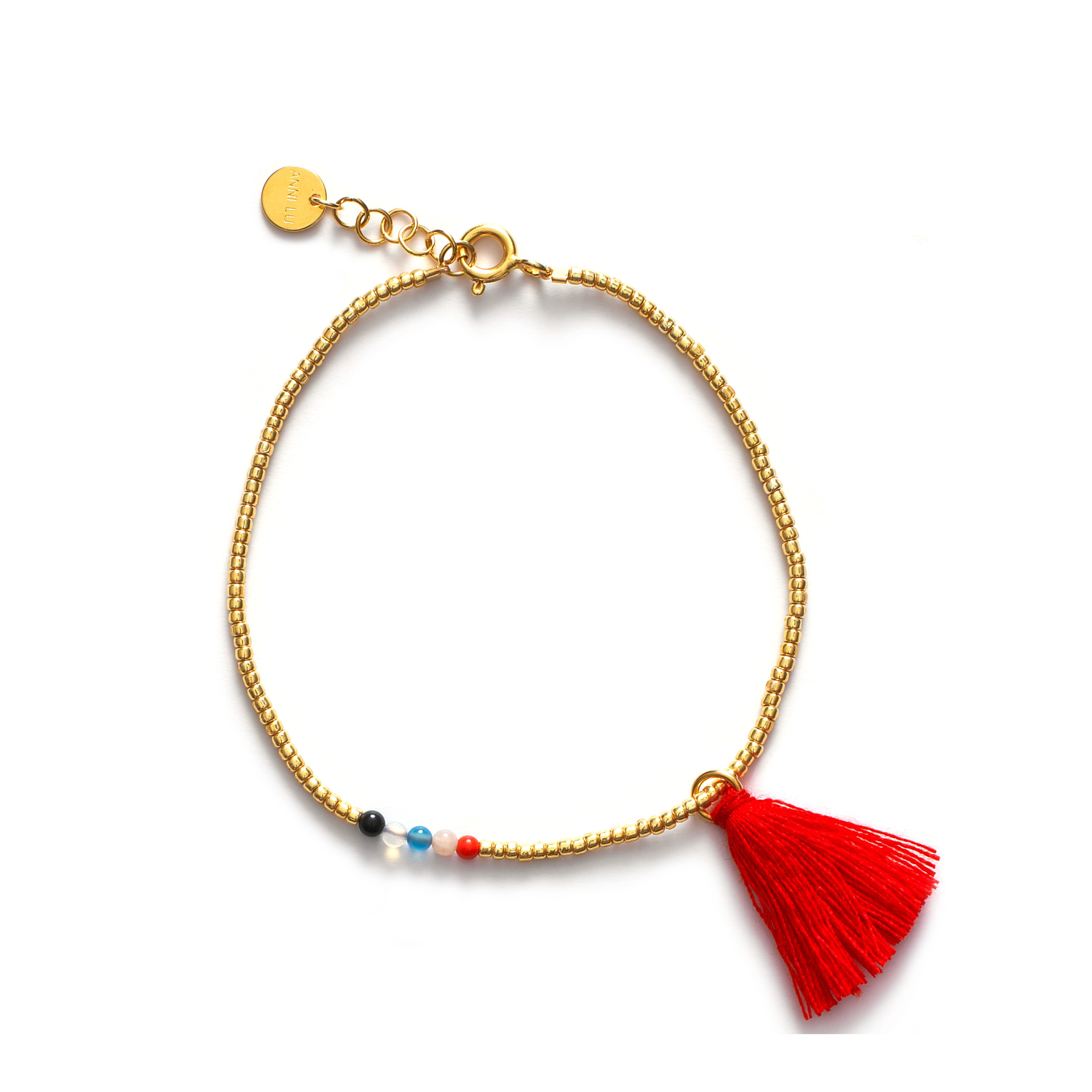 Armband roter Tassel