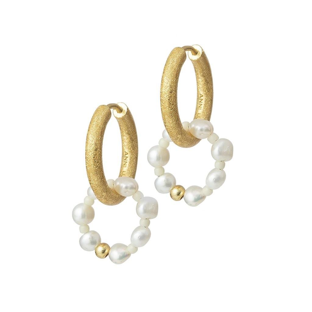 Ring of Pearls Hoop Ohrringe