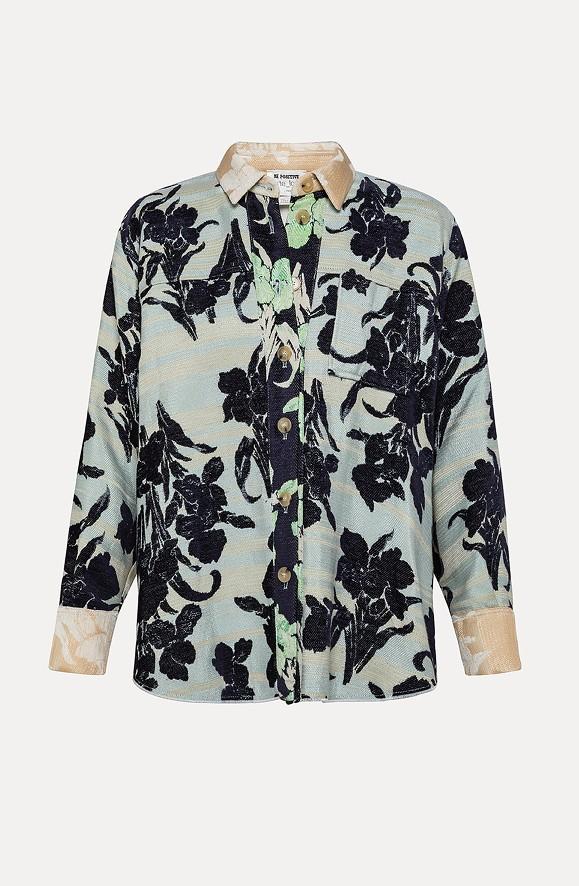 Jacke mit florealem Muster