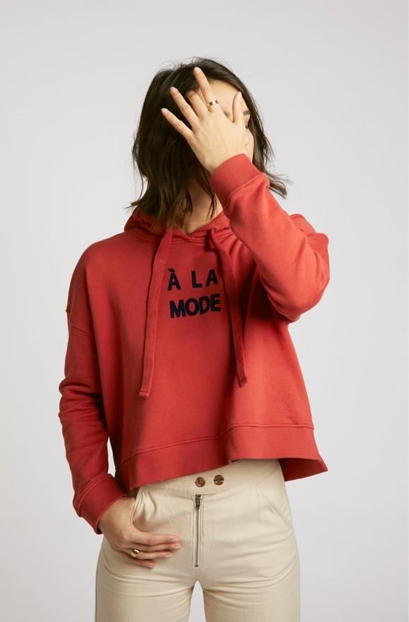 "Hoodie verkürzt ""A la mode"""