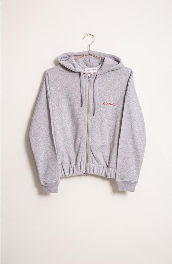 "Zipper Sweater ""Amour"""