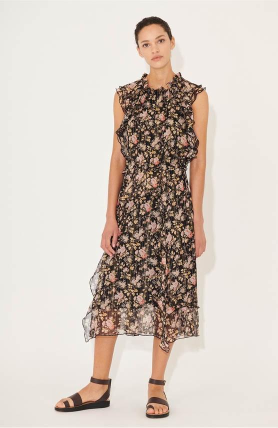 Midi Seiden-Kleid