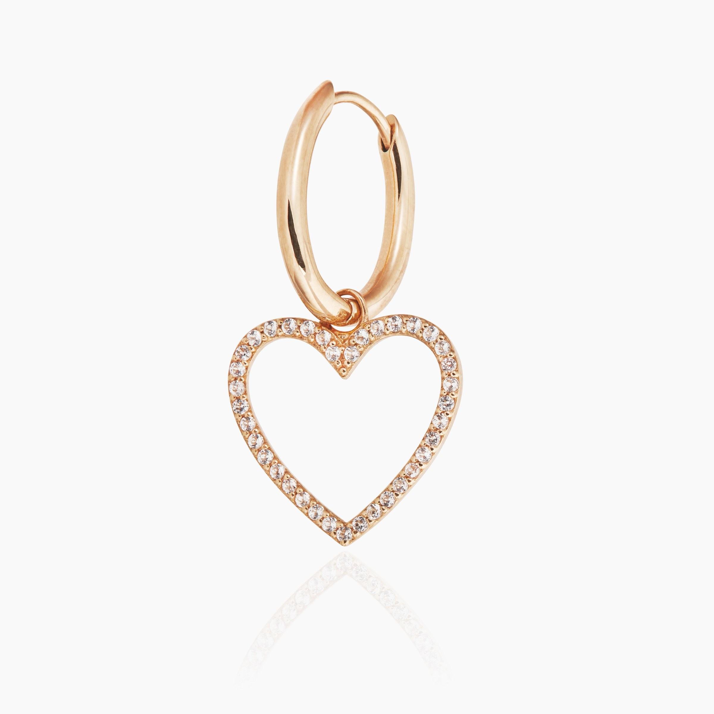 Ohrring mit Herzanhänger