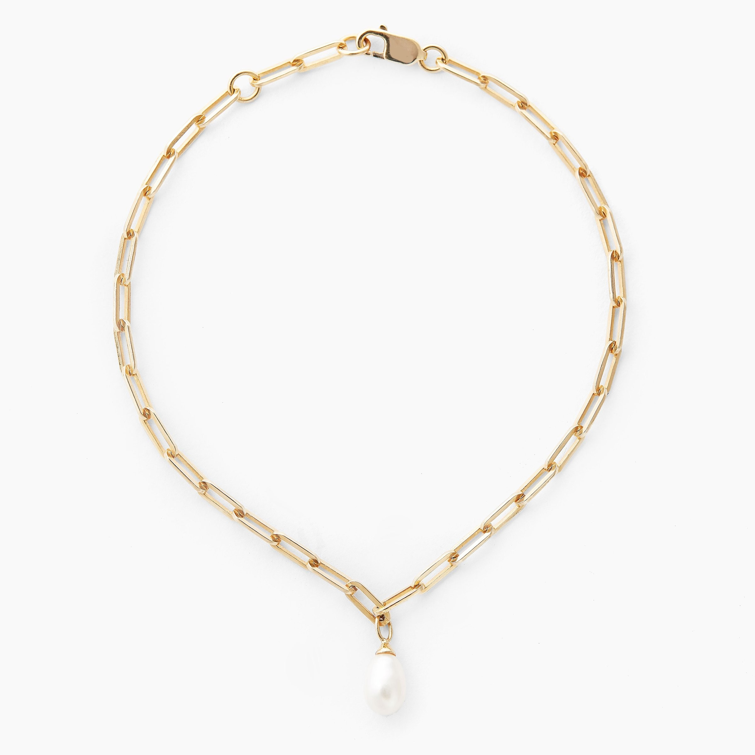 Love Link & Pearl Armband