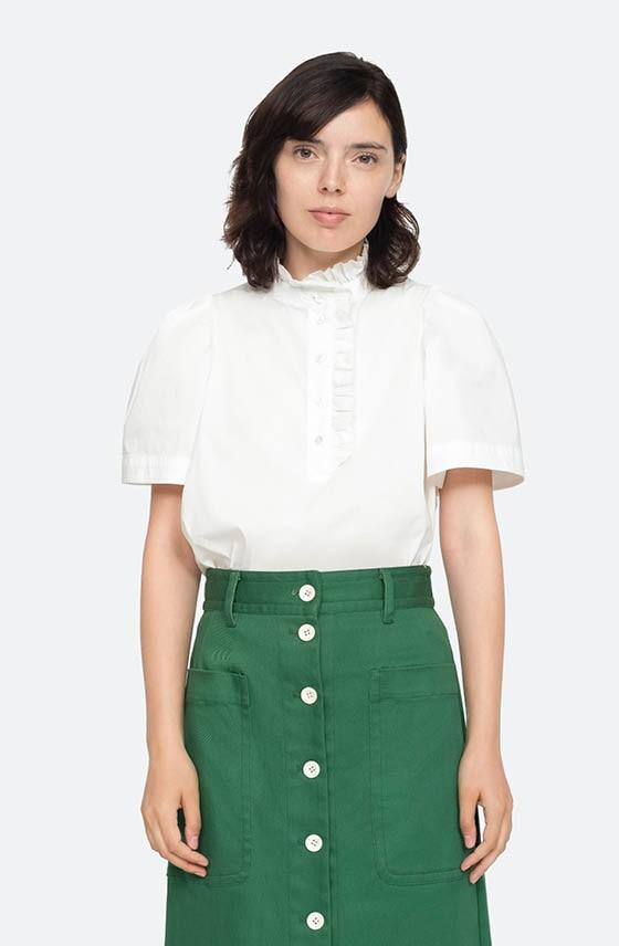 Weiße Bluse mit schönen Details