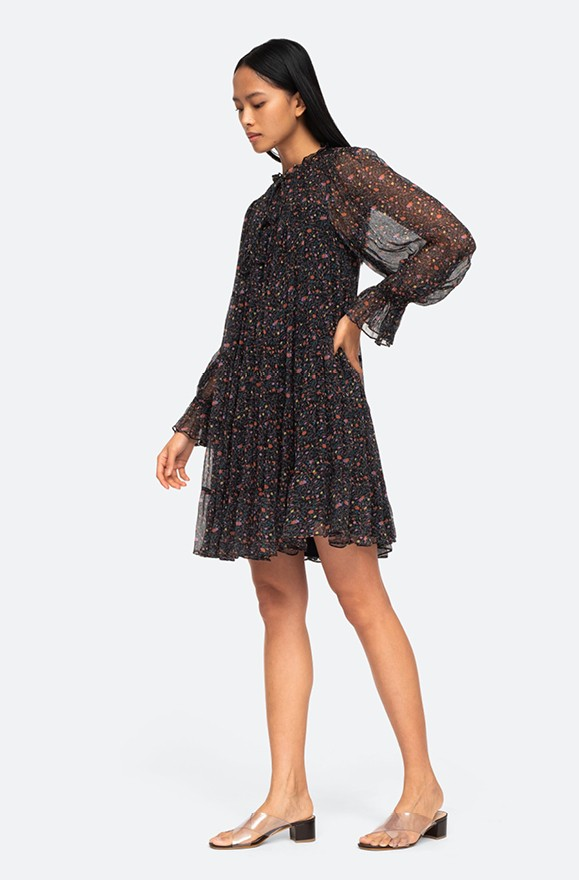 fliessendes Tunika-Kleid