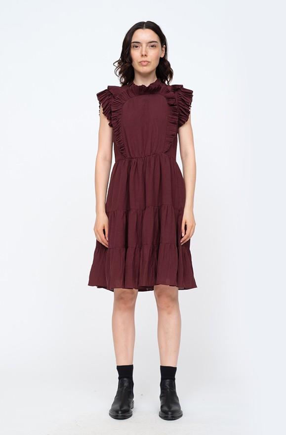 Kleid mit Plisseedetails