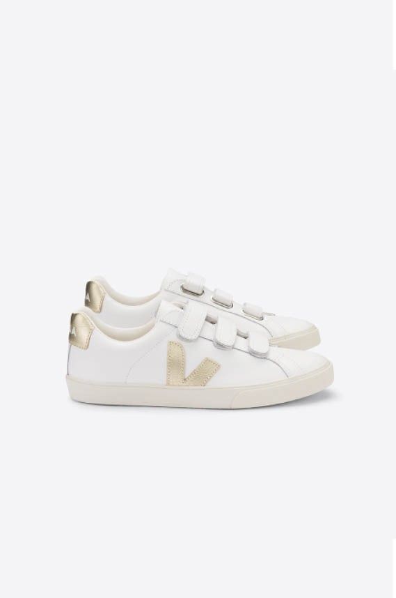 ESPLAR LEATHER 3-LOCK Gold Sneaker